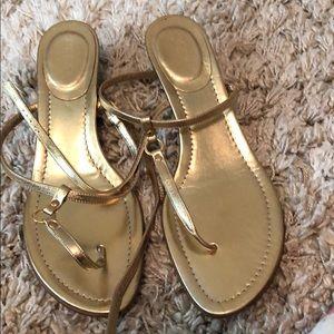JCrew Gold Sandal